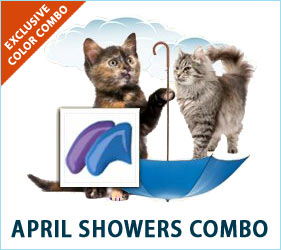 April showers may bring May flowers, but you and your cat don't have to wait to enjoy the lovely colors of Spring when you use the April Showers Combo.