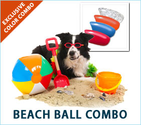 When your dog heads out for a walk in this nail combo, thoughts of a colorful beach ball glinting in the summer sun will put a spring in both your steps.