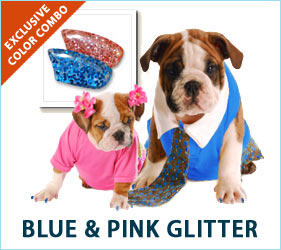 Who doesn't love glitter? Even your dog will love to frolic around in pink and blue glitter nail caps, and you'll enjoy the extra splash of glitz in your home.