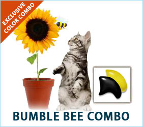 Bumblebees are getting to work, and sunflowers are stretching their petals. Cats love to watch it all happen while sporting our Sunflower Cat Combo in solidarity with the bees and the blooms.