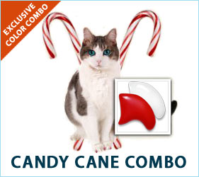 The joys of the season are all around us, and we don't want to leave our cats out of the festivities. Our Candy Cane Combo is a special way to include your kitty in the seasonal fun.