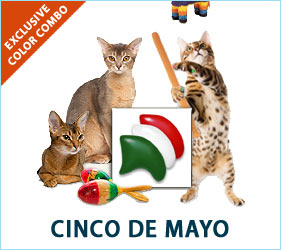 Cats can join in the Cinco de Mayo festivities with these fun Mexican flag-inspired nail caps.
