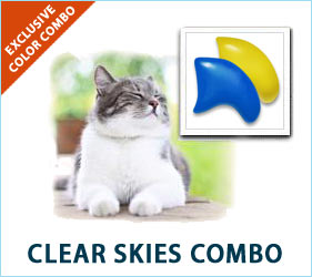 Sunshine and blue skies: humans and cats both love them. And if the spring day is cloudy and rainy, you can still enjoy a bit of clear sky when your kitty prances by in these nail caps.