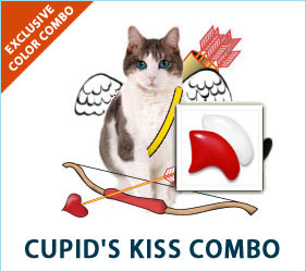 Check out the Cupid's Kiss combo for cats.