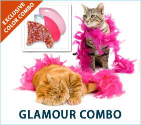 All cats are glamorous, but yours will really be able to show her Hollywood side in our Glamour Combo nail caps.