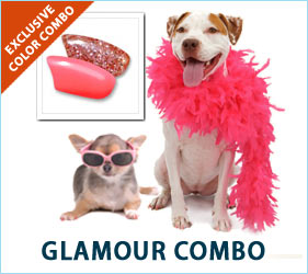 Your little furry movie star will be ready for Hollywood parties and fancy get-togethers while delicately prancing around in these pink and pink glitter nail caps.