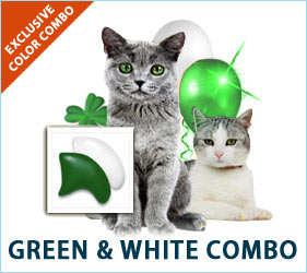 Put on the lucky green and white combo for cats!