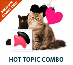 Your fashionable feline will be the talk of the town, spotted at all the trendy food bowls and scratching pads sporting the Hot Topic Combo.