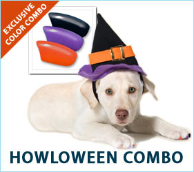 Halloween time will be Howl-oween time when your dog wears these spook-inspired nail caps. But your little canine ghost or goblin will be expecting only treats, no tricks for the occasion.