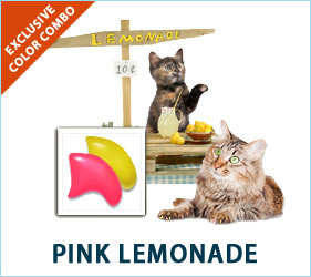 Cats may not be able to drink pink lemonade, but they can still enjoy the fashion statement it inspires in our Pink Lemonade Combo.