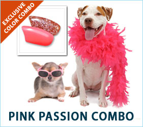 Help your canine lovebug feel the joy and Pink Passion of Valentine's Day in pink glitter, hot pink, and pastel pink Soft Paws®.