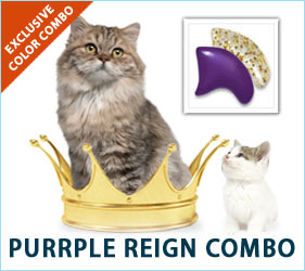 Every cat deserves to be treated like a monarch. Our Purple Reign combo decks them out just like they should be: in royal fashion.