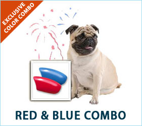 The colors of the 4th of July aren't just limited to human fashion. Your dog can strut some stuff in style this summer holiday season, too, with our Red and Blue Combo.
