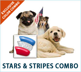 Dogs can be patriotic too! Make sure your pooch is ready for all of the 4th of July fun with these festive nail caps.