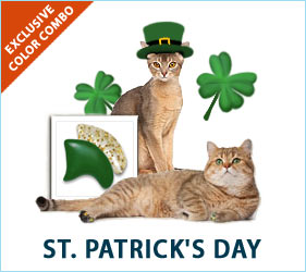 Celebrate with our fabulous St. Patrick's Day combo for cats!