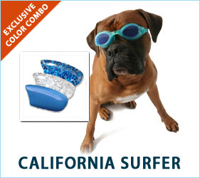 The ocean, the waves, the sun, the warm air. Our California Surfer nail cap combo keeps all of these joys close at hand for you and your dog.
