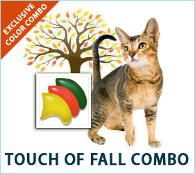 The air is getting crisper, and the leaves are showing signs of changing. Your kitty's nails can reflect the colors of the season with our Touch of Fall Combo.