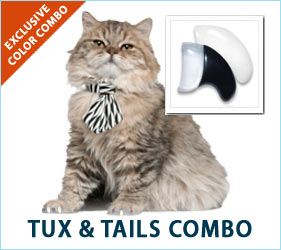 Dress to impress with the Tux & Tails combo for cats!
