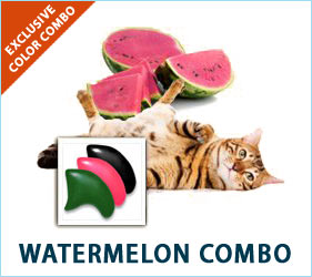 Watermelon and summer go together and so do cats and our Watermelon Combo. Your cat's cool, refreshing nails will match the season perfectly.