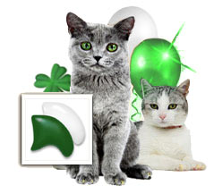 Green & White nail cap combo