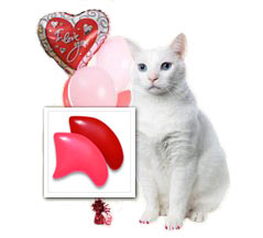 Red & Pink Cupid's nail cap combo